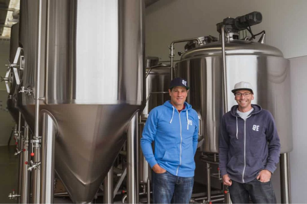 Matt Lamming and James Hay at b.social Wanaka brewery